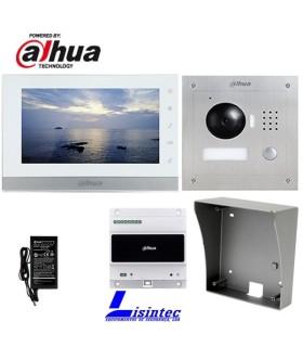 Kit de Videoportero IP Dahua de 2 hilos, compuesto por VTO2000A-2 y VTH1550CHW-2