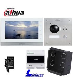 Kit de Portier vidéo IP, 2 fils, composé de VTO2000A-2 et VTH1550CHW-2, installation encastrée
