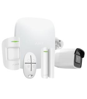 Kit de alarme wireless Ajax AJ-HUBKIT-W com camara IP WIFI