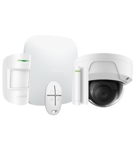 Kit d'alarme sans fil Ajax AJ-HUBKIT-W avec caméra dome IP WIFI
