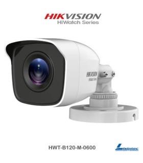 Cámara bullet Hikvision 1080p lente 6 mm - HWT-B120-M-0600