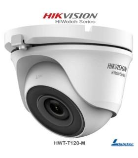 Câmara dome Hikvision 1080p, lente 2.8 mm - HWT-T120-M