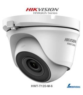 Cámara domo Hikvision 1080p, lente 6 mm - HWT-T120-M-6