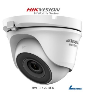 Hikvision Dome Camera 1080p, 6 mm Lens - HWT-T120-M-6