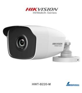 Cámara bullet Hikvision 1080p,  lente 2.8 mm - HWT-B220-M