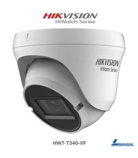 Cámara Domo Hikvision 4Mpx 4 en 1con lente varifocal - HWT-T340-VF