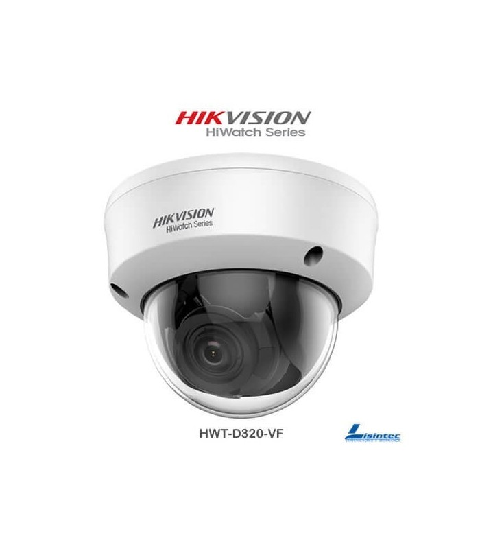 Caméra Dôme Hikvision 1080p 4 en 1 avec objectif varifocal - HWT-D320-VF