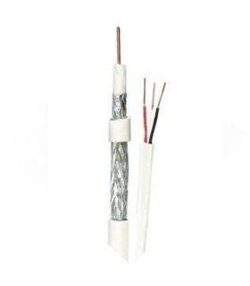 Câble coaxial RG59 avec une paire de câbles pour l'alimentation