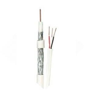 Cable coaxial RG59 con par de cables para energía