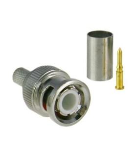 Conector BNC para crimpar Compatible con RG59